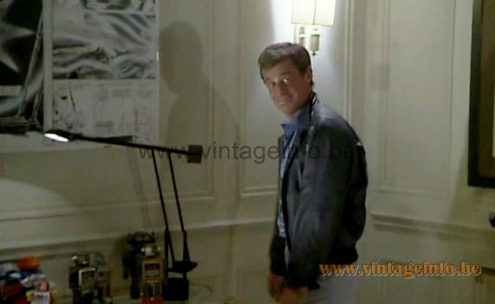Artemide Tizio 50 desk lamp used as a prop in the French film Le Professionnel from 1981