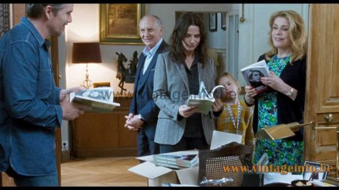 Boulanger brass floor lamp used as a prop in the 2019 film La Vérité (The Truth)