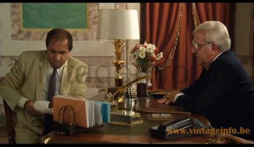 Boulanger reed table lamp used as a prop in the 1981 film Innamorato Pazzo