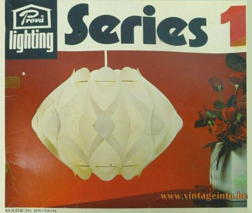Butterfly style pendant lamp made for Prova British Home Stores UK not a Hoyrup Denmark lamp