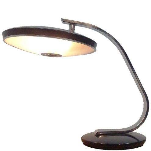 Fase Madrid model 520-C desk lamp Designer: Luis Pérez de la Oliva 1970s Mid-Century Modern MCM boomerang