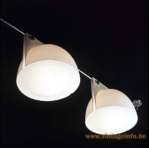 Harvey Guzzini Orione Pendant Lamp - Lamps On A Chrome Rod - Catalogue Picture