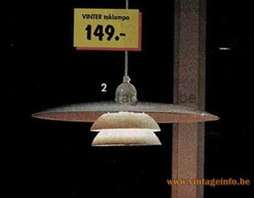 IKEA Vinter Pendant Lamp - 1995 Catalogue Picture