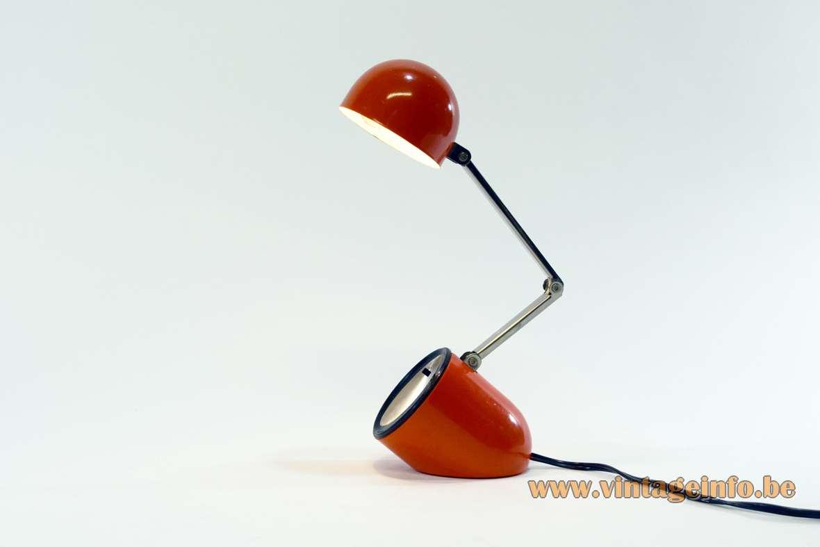 Nanbu Kreo-Lite aiai NA-718 table, desk lamp capsule foldable 1970s Mid-Century Modern 1 bulb 15CP pill