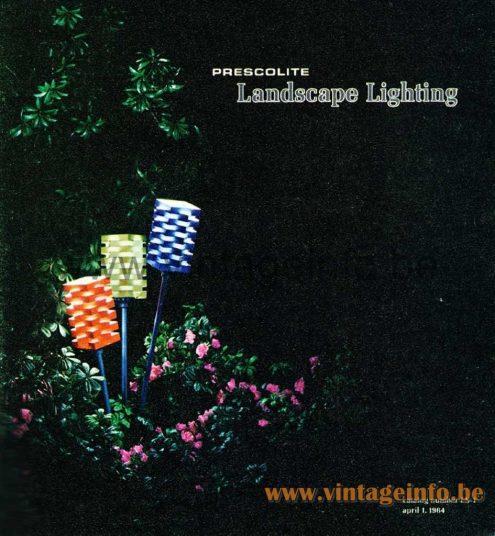 Nordisk Solar Garden Lamps - 1964 Prescolite Catalogue