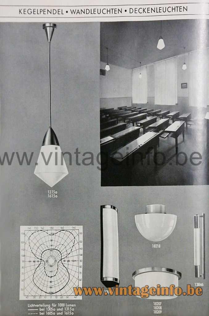 Peter Behrens Pendant Lamp - AEG Leuchten Catalogue 1935