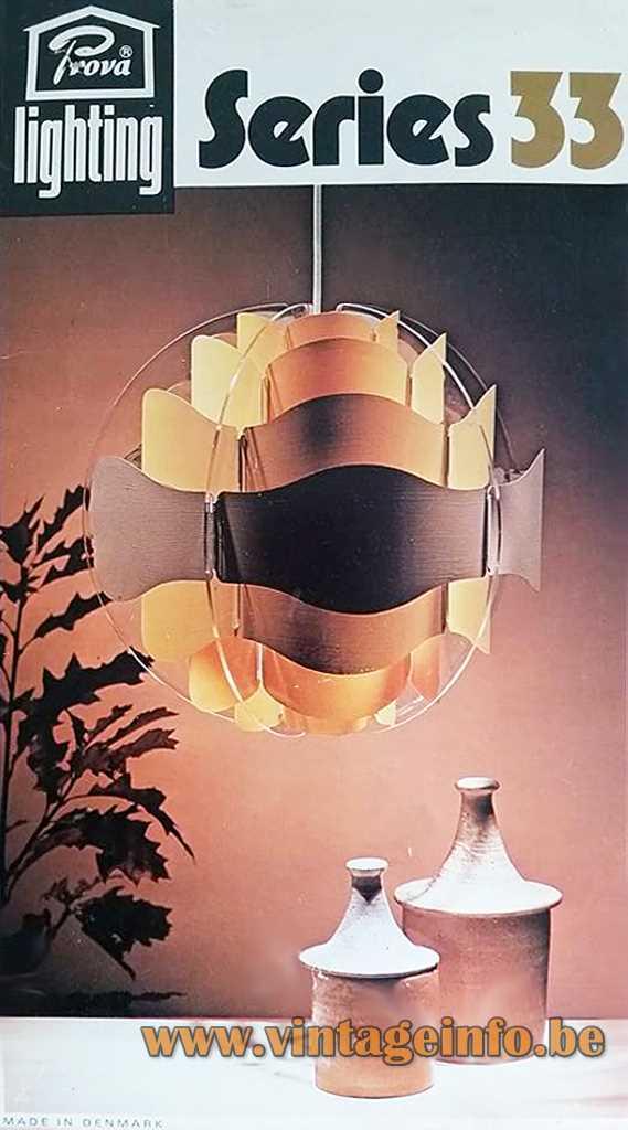 Prova BHS UK Series 33 Pendant Lamp Box