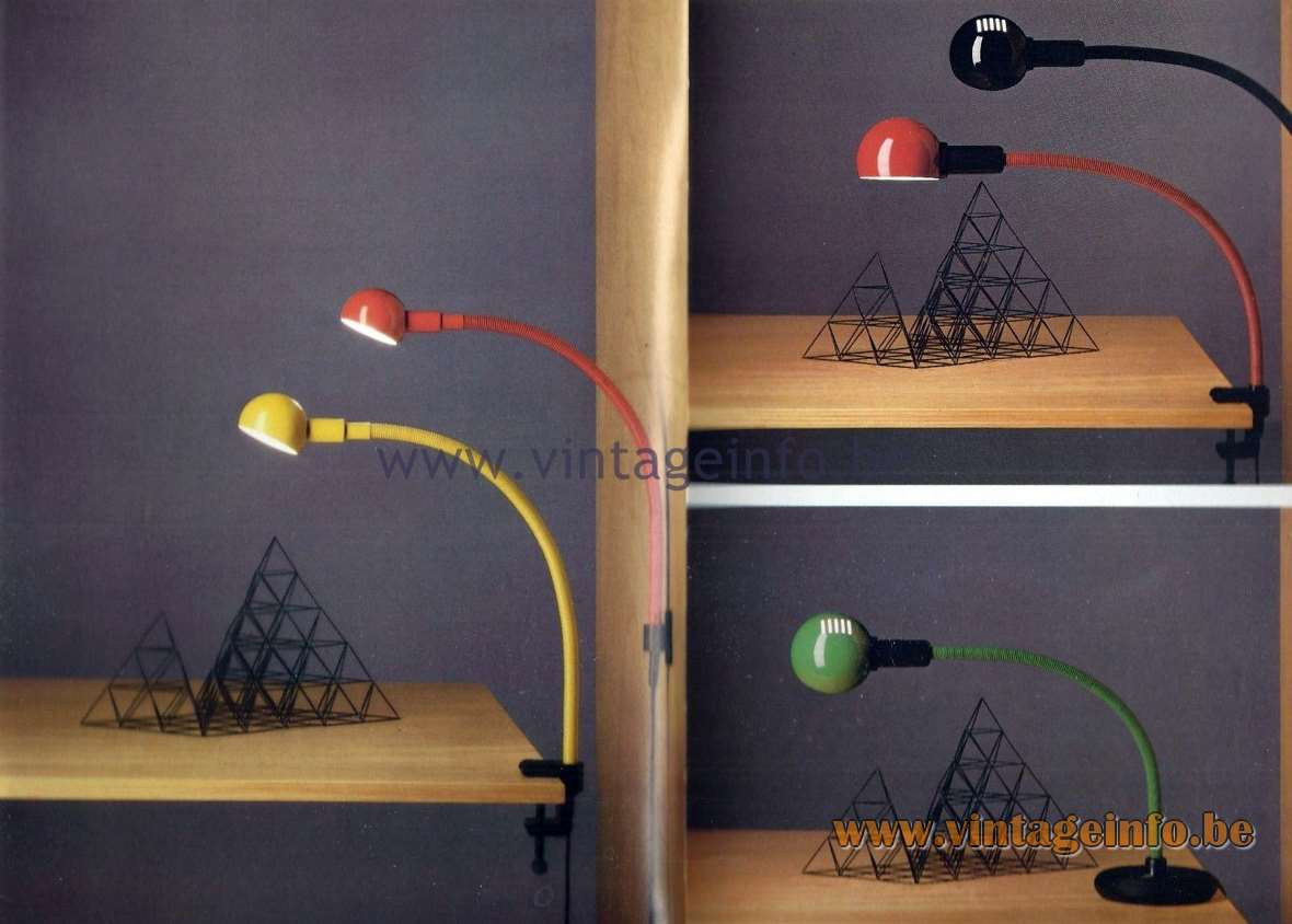 Valenti Hebi Lamps - Catalogue 1983