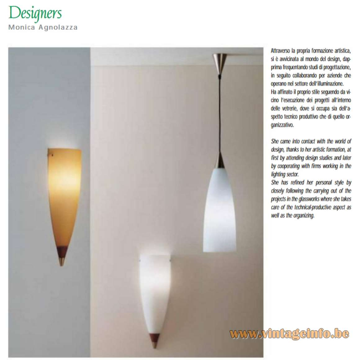 Vetreria Vistosi Fedra Pendant Lamps - Catalogue Pictures