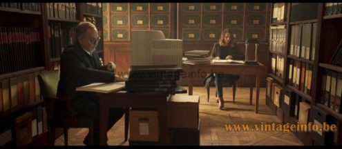 1980s Saturn bankers desk lamp used as a prop in the 2019 French film Le Mystère Henri Pick