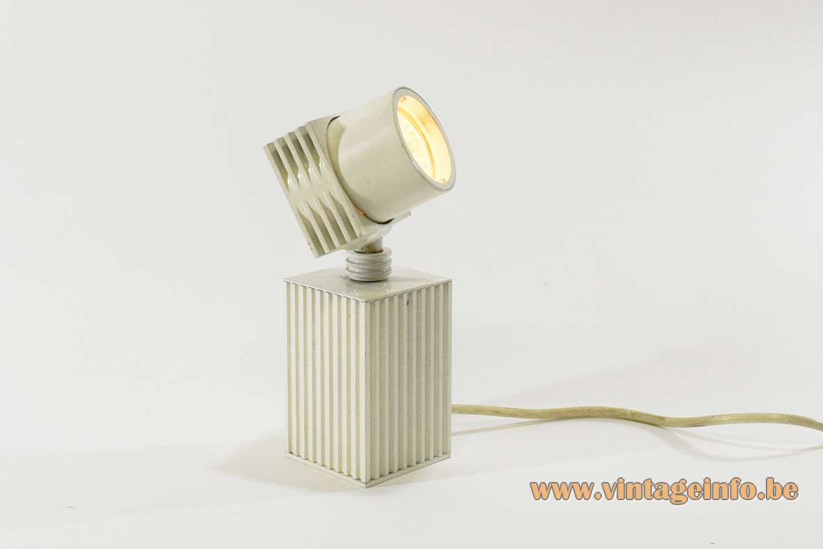 1980s White Beam-Shaped Picture Lamp