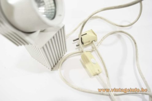 1980s White Beam-Shaped Picture Lamp - 1980s VLM Components Elektric Parts