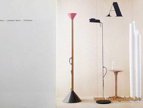 Camera Terra Floor Lamp - Design Ernesto Gismondi, 1980s Artemide Catalogue Picture