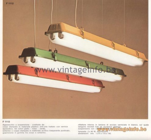 Candle 1970s Fluorescence Lighting Catalogue - F 1112 Pendant Lamps