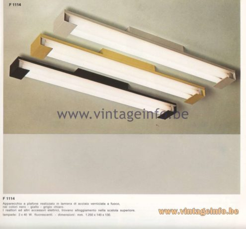 Candle 1970s Fluorescence Lighting Catalogue - Candle F 1114 Pendant Lamps