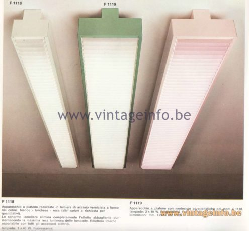 Candle 1970s Fluorescence Lighting Catalogue - Candle F 1118, F 1119 Pendant Lamps