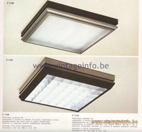 Candle 1970s Fluorescence Lighting Catalogue - F 1120, F 1121 Flush Mounts