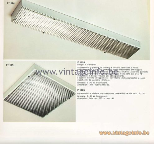 Candle 1970s Fluorescence Lighting Catalogue - F 1124, F 1125 Flush Mounts