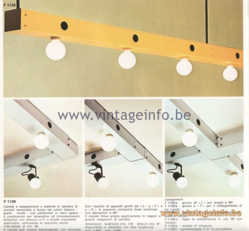 Candle 1970s Fluorescence Lighting Catalogue - F 1139 Flush Mounts and Pendant lamps - industrial