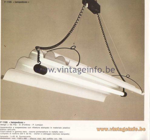 "F 1105 ""Lampeduso"" Pendant Lamp"