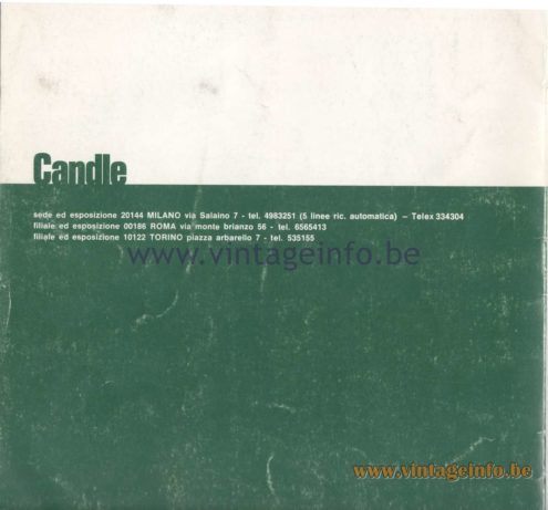 Candle 1970s Fluorescence Lighting Catalogue