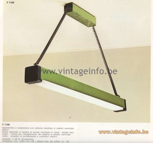 Candle 1970s Fluorescence Lighting Catalogue - F 1106 Pendant Lamp