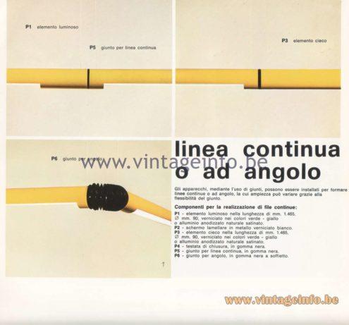 Candle 1970s Fluorescence Lighting Catalogue - Linea continua o ad angolo - Continuous or angled line