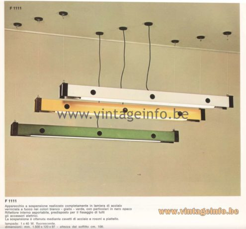 Candle 1970s Fluorescence Lighting Catalogue - F 1111 Pendant Lamp