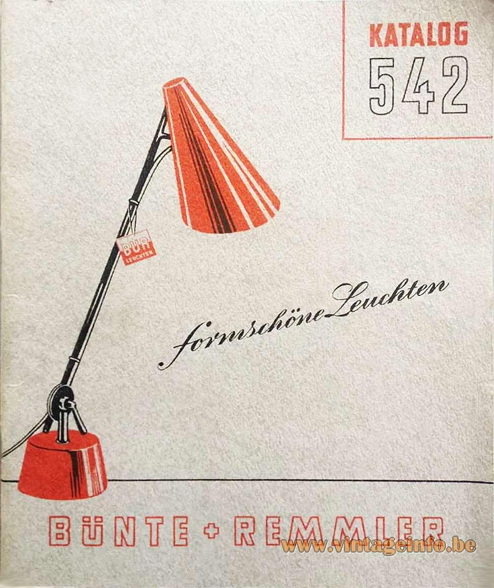 Christian Dell - BUR - Bünte + Remmler Work Lamp Catalogue Formschöne Leuchten