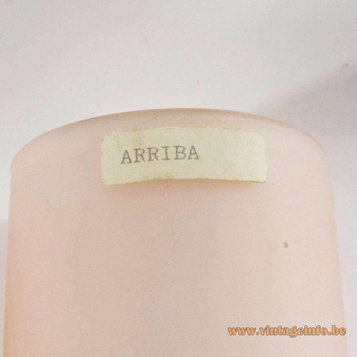 Evaluz Arriba Wall Lamps - Arriba label