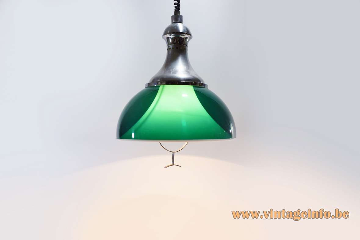 Green Acrylic Rise & Fall Pendant Lamp