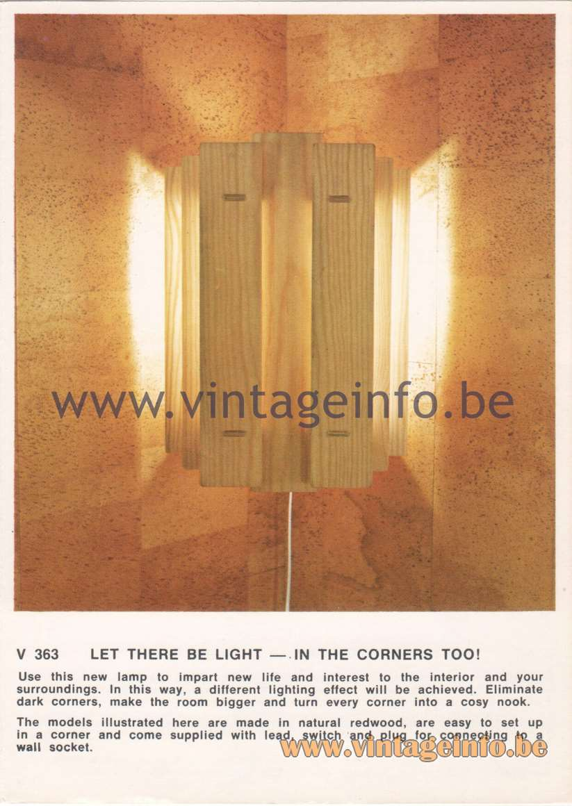 V 365 Wall Lamp - Let There Be Light - In the Corners Too!