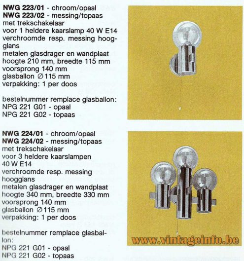 Hans-Agne Jakobsson Wall Lamp - Philips Catalogue 1983