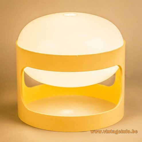Joe Colombo KD 27 Table Lamp - Yellow And White Version