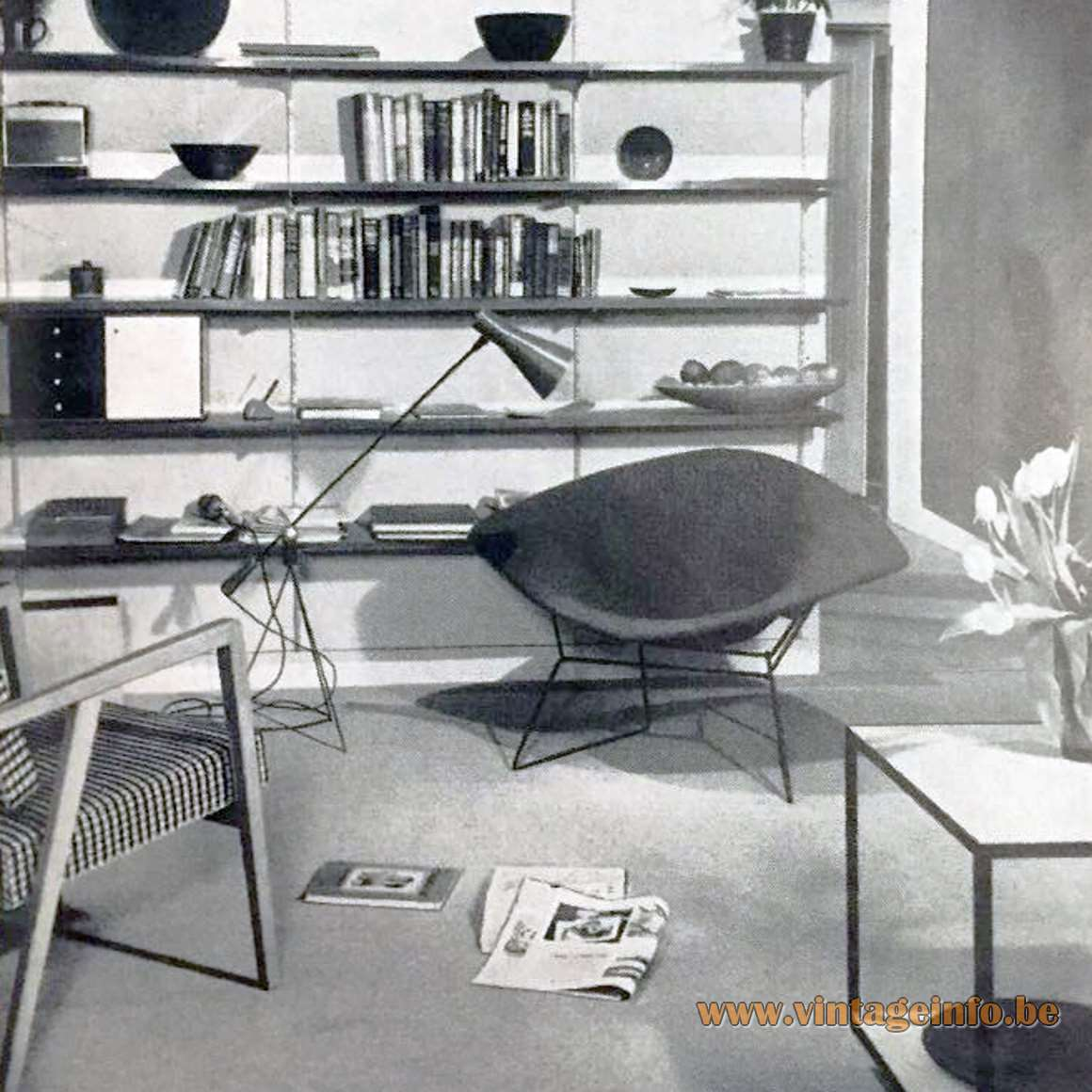 Magneto Floor Lamp 1950 design by Gilbert Allen 'Gil' Watrous produced by Heifetz