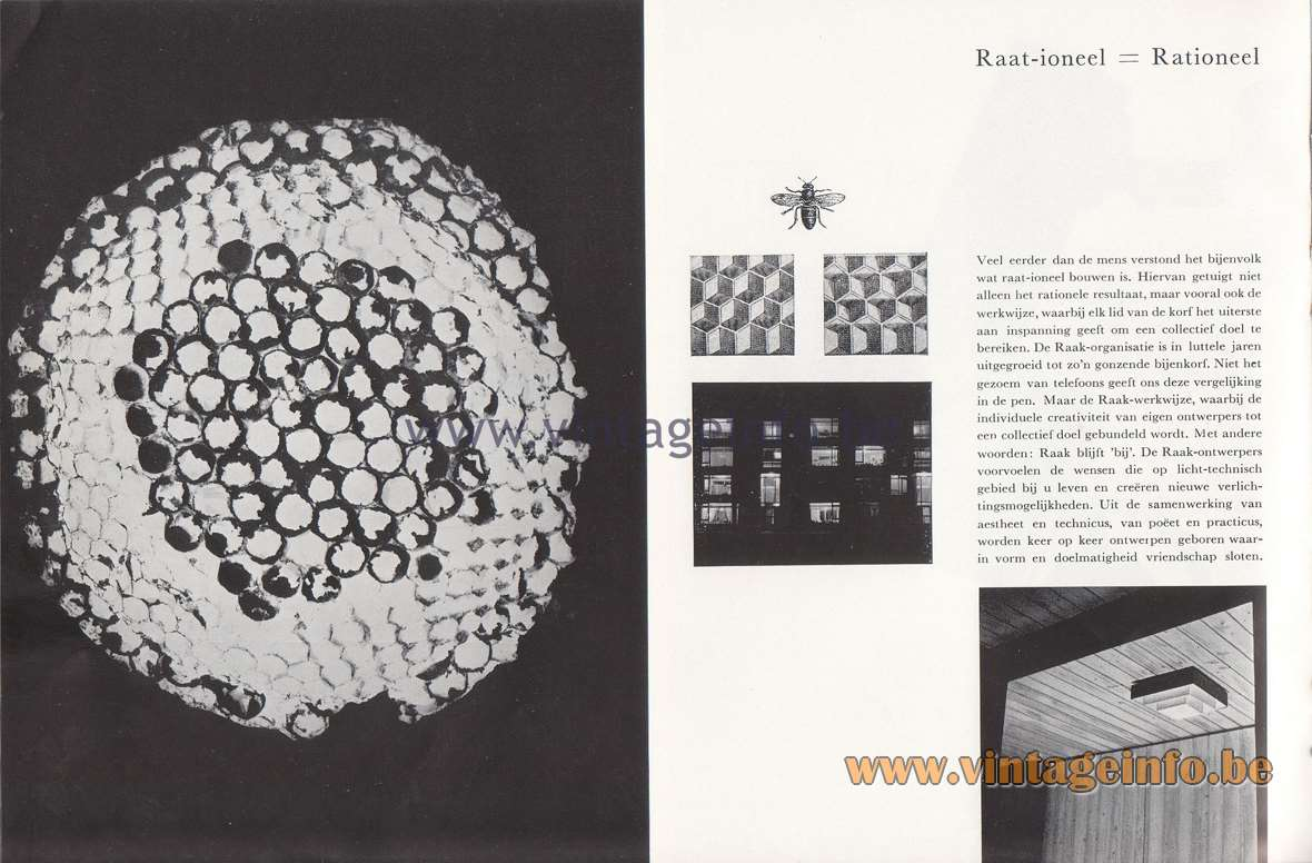 Raak Lichtarchitectuur - additional catalog nr 4 - Raat-ioneel = Rationeel - Raat = Comb = Rational - equivoke