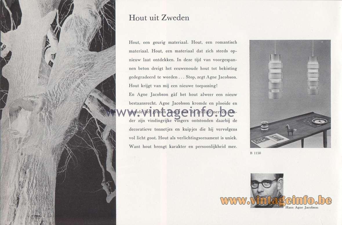 Raak Lichtarchitectuur - additional catalog nr 4 - Hout uit Zweden - Hans Agne Jacobson B-1158