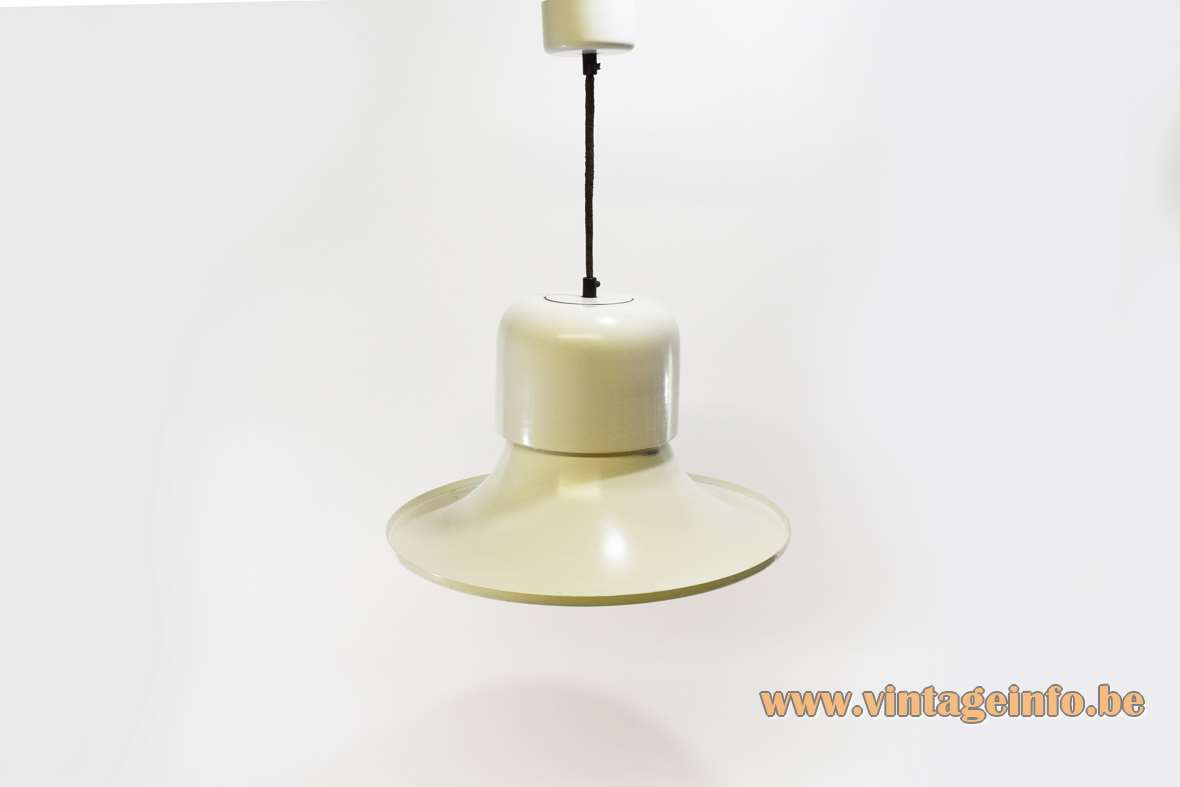 Stilnovo Campana Pendant Lamp white aluminium witch hat 1970s Joe Colombo MCM