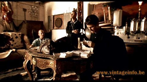 1960s Chrome Sputnik Chandelier used as a prop in the 1998 film Lock, Stock and Two Smoking Barrels