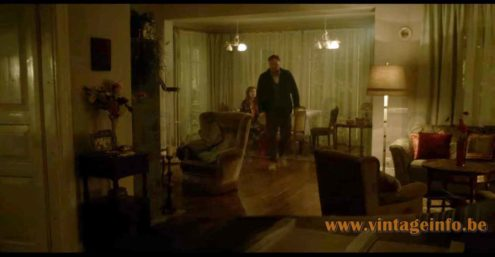 1970s glass tubes floor lamp used as a prop in the 2018 TV series Moscow Noir (Dirigenten) S1E2