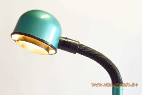 1980s Green Metallic FLoor Lamp