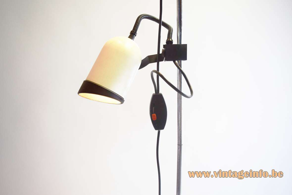 2 Lights Black & White Floor Lamp