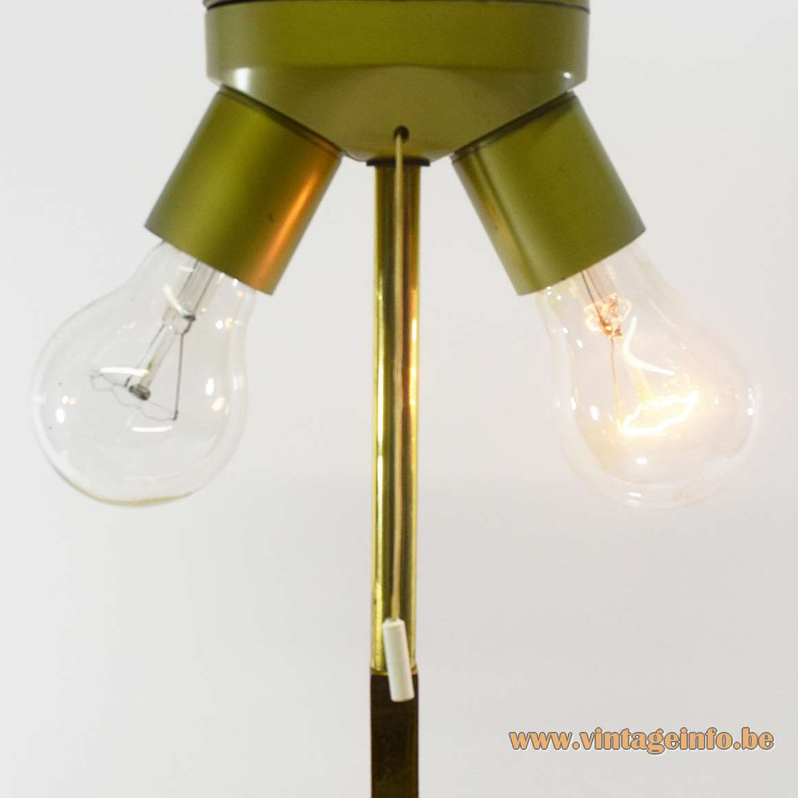 Brass Eternal Flame Table Lamp - Pull cord switch