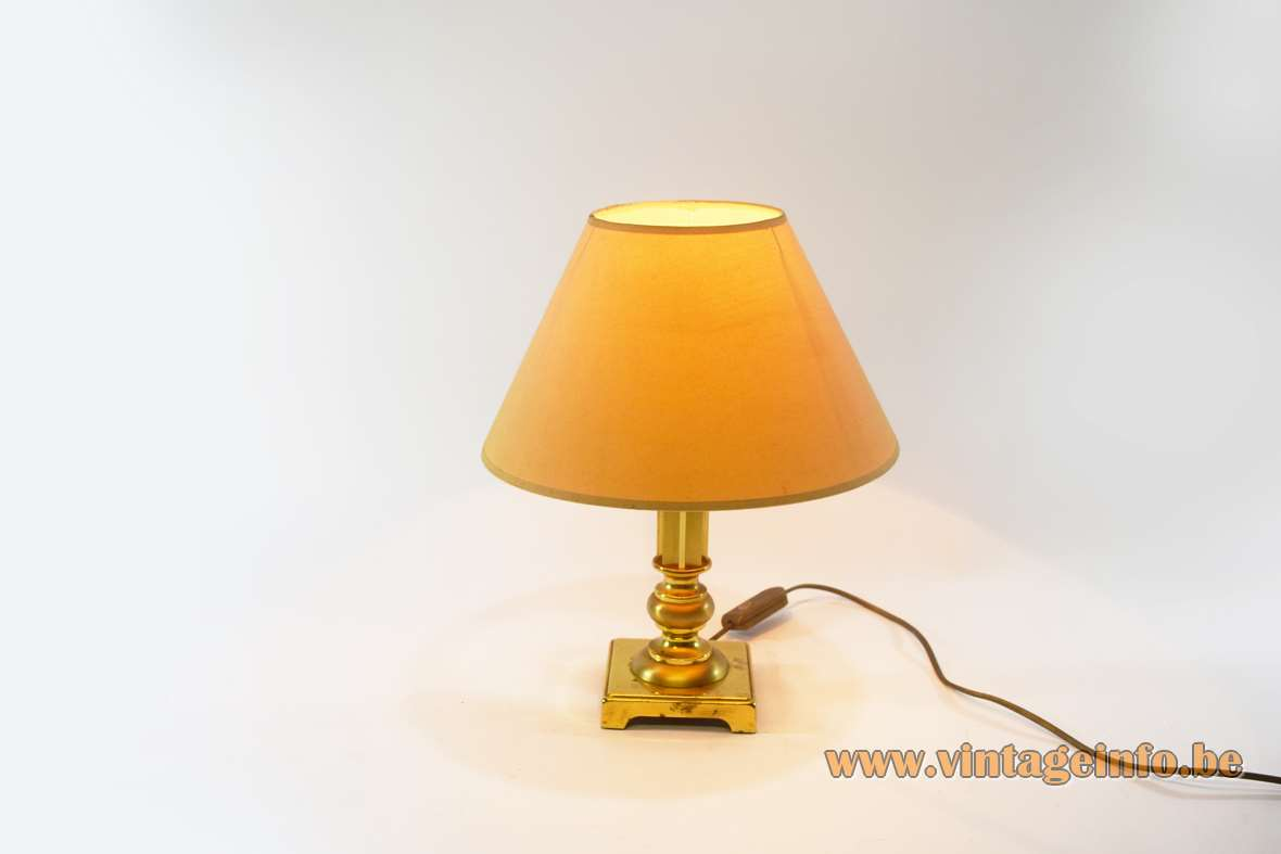Erwi 1980s Brass Table Lamp