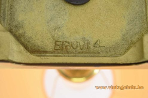 Erwi 1980s Brass Table Lamp - Erwi cast iron base: Erwi 4