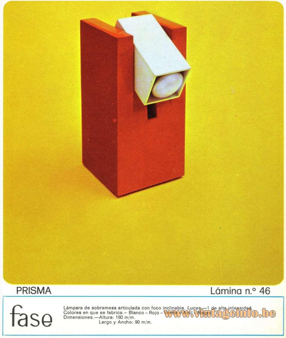 F.A.A.I. - Fase Prisma Table Lamp - Catalogue 1974
