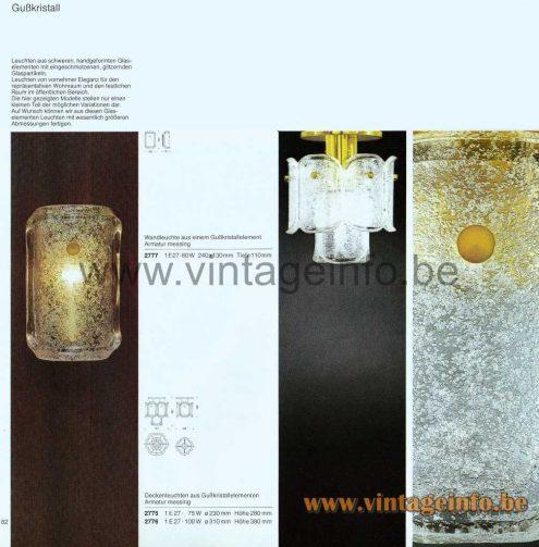 Glashütte Limburg Melting Ice Glass Flush Mount - 1979 Catalogue Picture