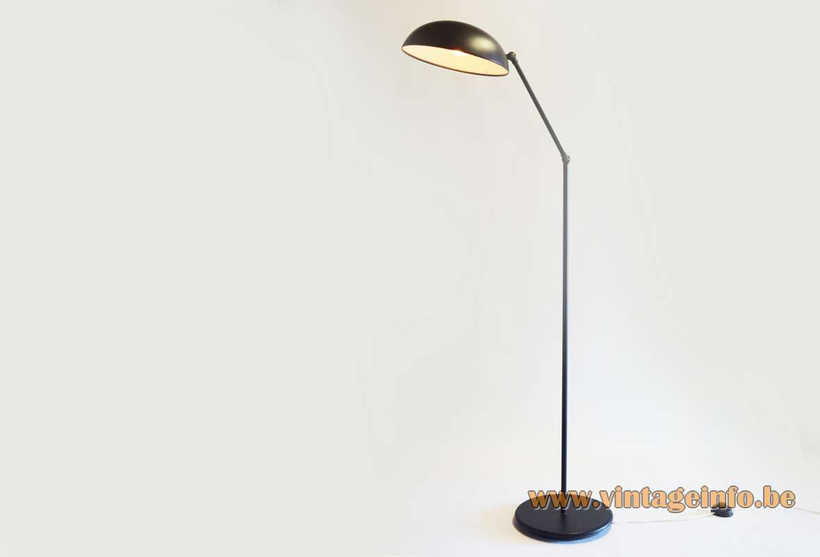 Hala Black Dish Floor Lamp