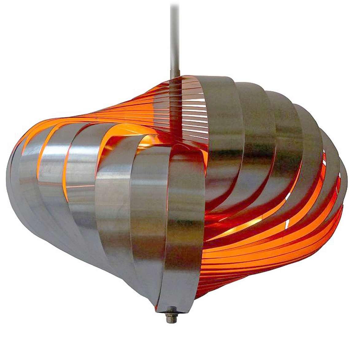 Henri Mathieu Spiral Kinetics Pendant Lamp