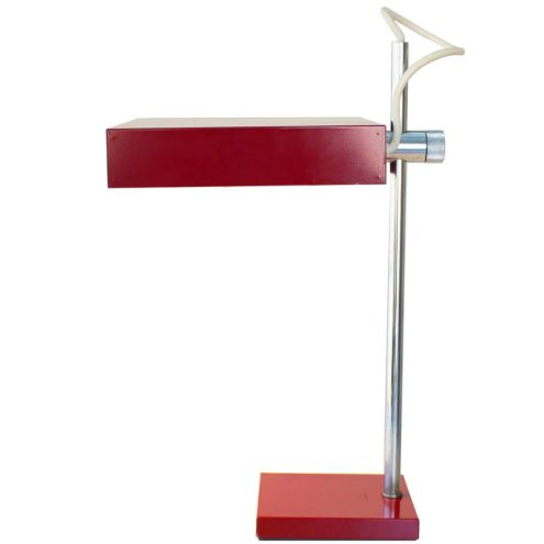 Kaiser Leuchten 6640 Desk Lamp design: Klaus Hempel square base metal chrome PRIMAT-Leuchte table